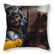 Aviation Boatswains Mate  Carrying Throw Pillow