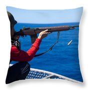 Aviation Ordnanceman Fires An M-14 Throw Pillow