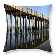 Avila Beach Pier California 2 Throw Pillow