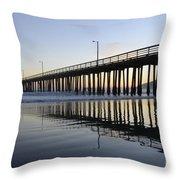 Avila Beach Pier California 3 Throw Pillow