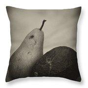 Avocado And Pear Throw Pillow