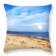 Avon Beach At Mudeford In Dorset Throw Pillow