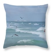Awesome Day At The Beach Throw Pillow
