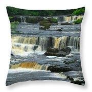 Aysgarth Falls Wensleydale Throw Pillow