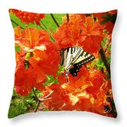 Azalea And Butterfly 1 Throw Pillow