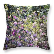 Azaleas In The Forest Throw Pillow