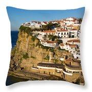 Azenhas Do Mar Throw Pillow
