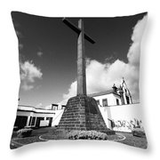 Azorean Chapel Throw Pillow