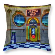 Aztec Grill Route 66 Throw Pillow