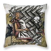 Aztec: Life And Death Throw Pillow