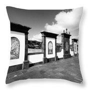 Azulejo Murals Throw Pillow