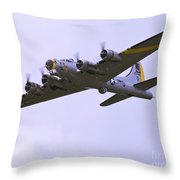 B-17g Liberty Belle Approach 8x10 Special Throw Pillow by Tim Mulina