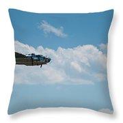 B 25 Mitchel Bomber Throw Pillow