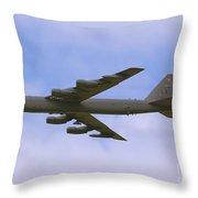 B-52 In Flight Throw Pillow