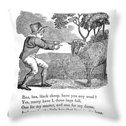 Baa, Baa, Black Sheep, 1833 Throw Pillow by Granger