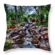 Babbling Brook Throw Pillow