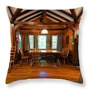 Babcock Cabin Interior 2 Throw Pillow