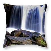 Babcock State Park Waterfall Throw Pillow