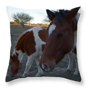 Baby And Mom Throw Pillow