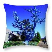Baby Blue Tree Throw Pillow