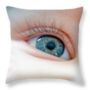 Baby Eye Close-up Of A Blue Eye Throw Pillow
