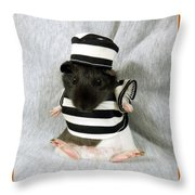 Baby Guinea Pig Trick Or Treat Throw Pillow