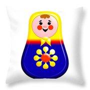 Baby Matrioshka Doll  Throw Pillow