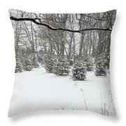 Baby Pines Throw Pillow