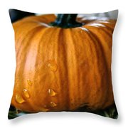 Baby Pumpkin Tears Throw Pillow