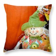 Baby Scarecrow Throw Pillow