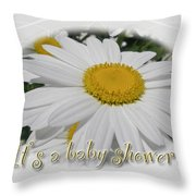 Baby Shower Invitation - Ox Eye Daisy Throw Pillow