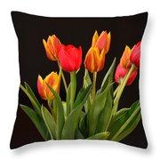 Baby Tulips Throw Pillow