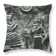 Babylonian Boundary Stone Throw Pillow by Science Source