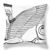 Babylonian Sphinx Throw Pillow