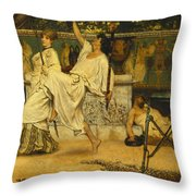 Bacchanal Throw Pillow by Sir Lawrence Alma-Tadema