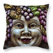 Bacchus God Of Wine Throw Pillow