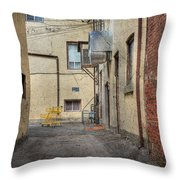 Back Alley Cityscape Throw Pillow