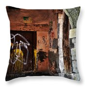 Back Alley In Leon Throw Pillow