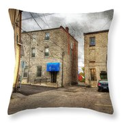 Back Alley Napanee Throw Pillow