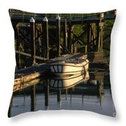 Back At The Harbor Throw Pillow
