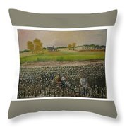 Back Breaking Work Throw Pillow