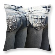 Back End Bling Throw Pillow