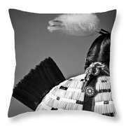 Back Feather Throw Pillow