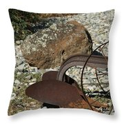 Back Half Of Old Plow Throw Pillow