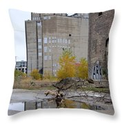 Back Of Warehouse Branches 1 Throw Pillow