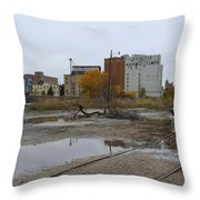 Back Of Warehouse Cold Storage 1 Throw Pillow