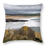 Back Strand 4 Throw Pillow by Marion Galt