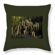 Backlit Cactus Throw Pillow