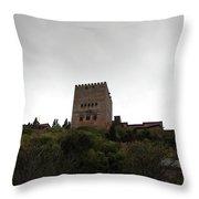Backlit Castle Throw Pillow