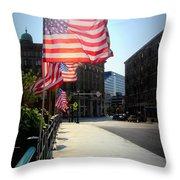 Backlit Flag Throw Pillow